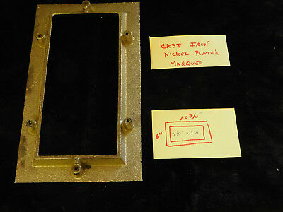 Mills Jennings Reproduction Nickel Plated Frame For Antique Slot Cast Iron
