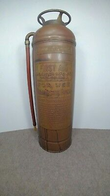 Antique Vintage PYRENE SODA-ACID Copper Brass Fire Extinguisher-NICE-EMPTY