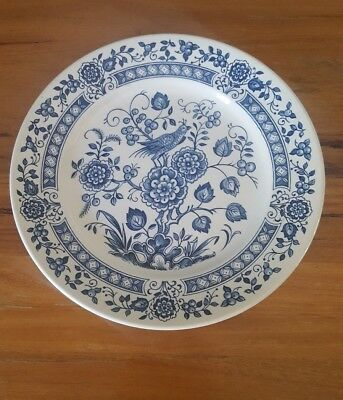 1 Broadhurst Nankin Dinner Plate Ironstone England Blue and White