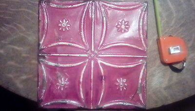 Tin ceiling tile wall hanging