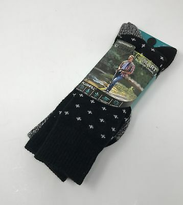CLIMATESMART Warm Thick Winter Men's Hiking Socks Sz 8 - 12 Outdoor Casual BLACK