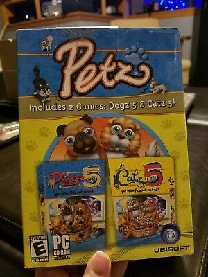 Petz: Dogz 5 and Catz 5 - PC Computer CD 2-Video Game Compilation