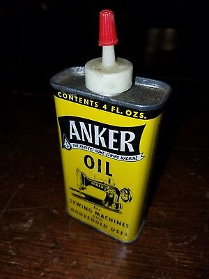 Antique Vintage Anker Sewing Machine Oil Can Unopened Almost Perfect Condition!