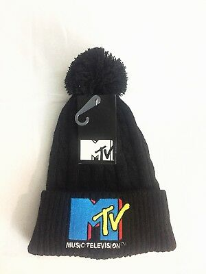 One size MTV Music Television Unisex Winter  Beanie pompom hat Exclusive Limited