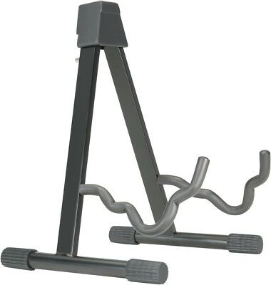 Musician's Gear A-frame Stand for Acoustic, Electric, and Bass Guitars Black