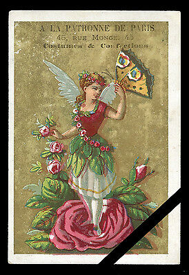 Rare Vintage French Victorian Trade Card: Est. Early 1900's