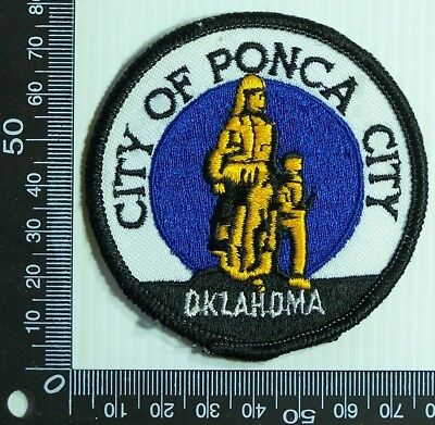 Vintage City Of Ponca Oklahoma Embroidered Souvenir Patch Woven Sew Cloth Badge