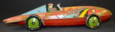 "VINTAGE MARX TIN LITHO KEYWIND ""ROCKET RACER"" TOY, MARKED: WITH A TIN... Lot 178"