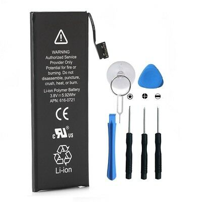 New 1560mAh Li-ion Internal Battery Replacement  for iPhone 5S 5C + Free Tools