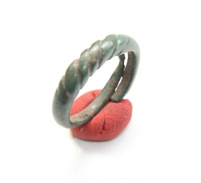 Ancient Viking Pseudo Twisted Bronze Ring (FBB02)