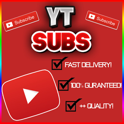 100 - 10K Youtube Subs (FAST/QUICK AND RELIABLE!) 100% GUARANTEED