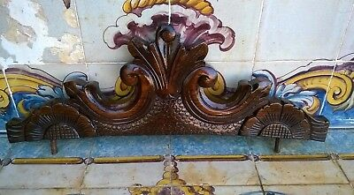 Vintage Carved Wood Pediment
