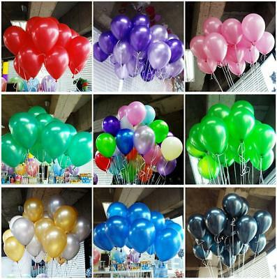 "100 pcs Colorful Latex Balloons 10"" Pearl Wedding Birthday Bachelorette Party"