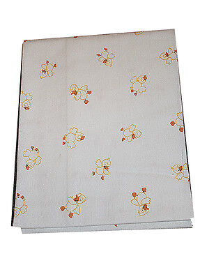 """Baby Ducky/White Receiving blanket  27"""", unisex, White with yellow duck printed"""