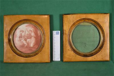 Antique Pair Of Small Miniature Picture Frames   (A155)