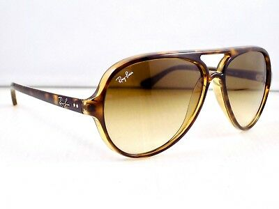 Ray Ban Cats 5000 Gradient Aviator RB4125 710/51 & Case