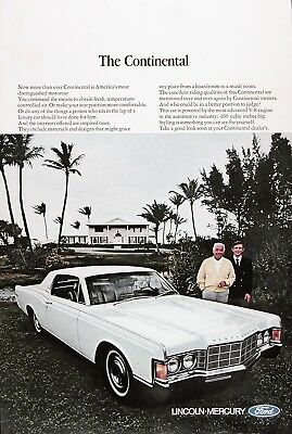 1969 LINCOLN CONTINENTAL Original Vintage Advertisement ~ 460 CUBIC INCHES
