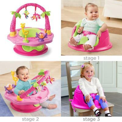 Super Seat Deluxe Giggles Island Positioner Booster And Activity Seat For Girl