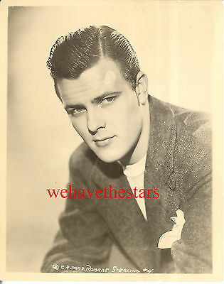 Vintage Robert Sterling QUITE HANDSOME SEXY 30s EARLY Publicity Portrait