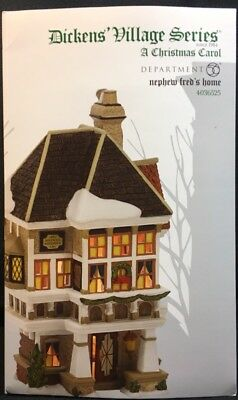 "Department 56 Dickens Christmas Carol ""Nephew Fred's Home"" #4036525"