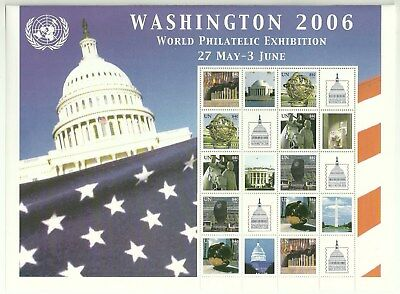 UNO Kleinbogen Washington 2006World Philatelic Exhibition postfrisch