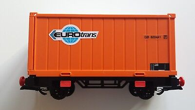 playmobil 4113 Container wagen Waggon in OVP