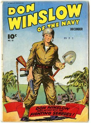 Don Winslow of the Navy #10 VG/FN 5.0 ow/white pages  Fawcett  1943  No Reserve