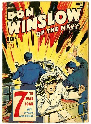 Don Winslow of the Navy #27 VG 4.0 off-white pages  Fawcett  1945  No Reserve