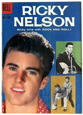 Four Color #956 FN- 5.5  Ricky Nelson #1  Photo Cover  Dell  1958  No Reserve