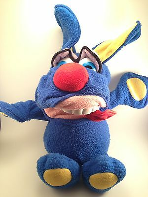 Funny Freddy Blue Dog Plush Toy 1987 Fisher Price Poseable Vintage