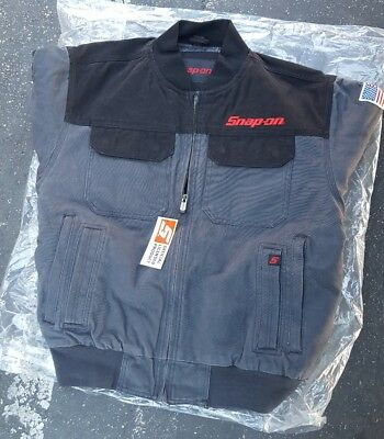 NEW Snap On ToolS Mens Insulated Black W/Grey Winter Coat Zip Up Jacket