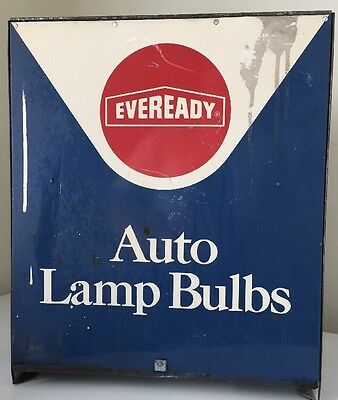 Vintage Eveready Auto Lamp Countertop Display or Cabinet Ford Chevy Mopar