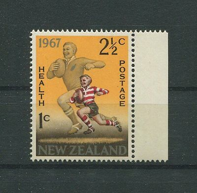 NEW ZEALAND HEALTH 1967 RUGBY postfrisch ** MNH SPORT SPORTS m437