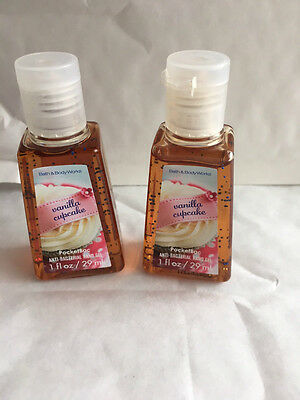 Bath & Body Works Anti-Bacterial PocketBac Hand Gel VANILLA CUPCAKE 29ML x 2