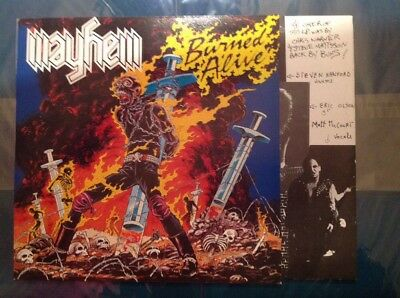 MAYHEM - BURNED ALIVE (US Speed) Org 1. Press Black Dragon Rec 1986