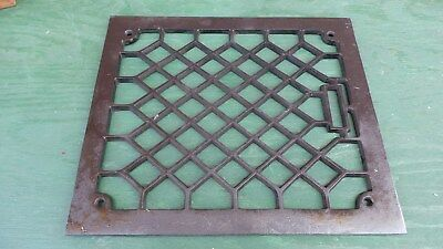 "Vintage VICTORIAN Cast Iron Floor Grille Heat Grate Register 13"" long x 12"" wide"