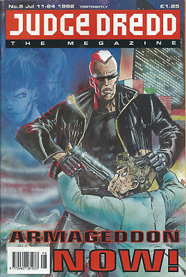 JUDGE DREDD THE MEGAZINE #6 JULY 1992 2000AD. Super Hero.Sci Fi.Comic.Original