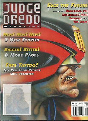 Judge Dredd Megazine Vol. 2 No.50 Apr1994 Judge Anderson,Shimura,The creep Comic