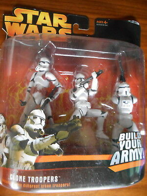 Clone Troopers  3-Pack  Rot  Deluxe  RotS * RAR *