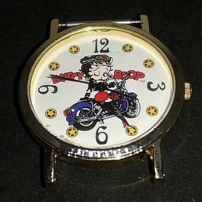 1994 Betty Boop Watch Winking On Motorcycle Fleisher Studios New Battery