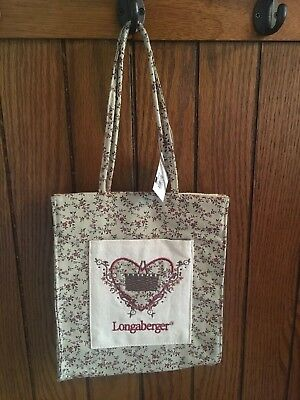 Longaberger Vintage Floral Tiny Tote Bag