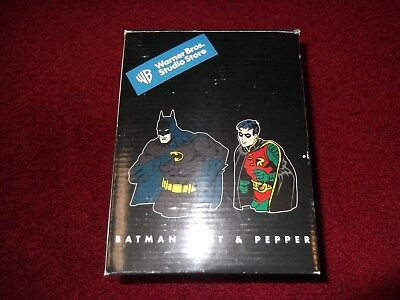 Vintage Warner Brothers Store Batman and Robin Salt and Pepper Shakers in box