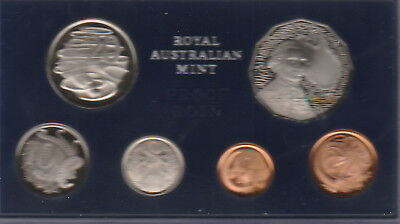 Australia,1,2,5,10,20,50 Cents Coins, 1970 Proof Set Cat#