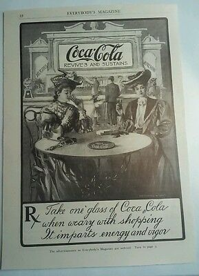 1905 Coca Cola Massingale Ad. In EVERYBODY'S  . Original Ad .Very Nice . 7X9.