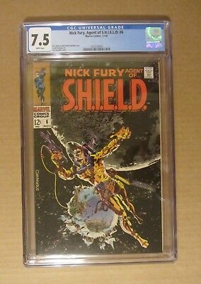 "Nick Fury, Agent of SHIELD #6 (1968, Marvel) CGC 7.5...""nice"" Jim Steranko cover"