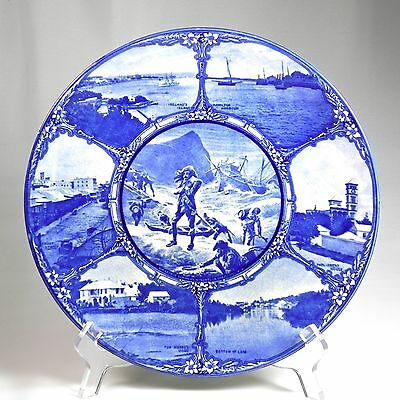 Royal Doulton Series Ware Bermuda Historical Plate Blue Transfer White Summers 2