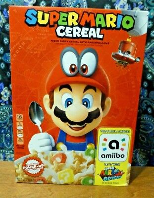 Nintendo Super Mario Odyssey Cereal - Limited Edition With Amiibo *NEW*