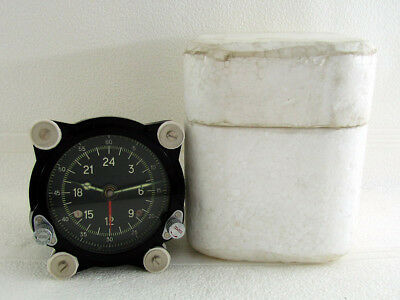 129-ChS 55M-72568 USSR Soviet Air Force MIG-21 Helicopter MI-9 Panel Clock NEW!