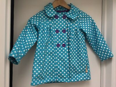 Beauty and the Bib Designer 4-5yr Polka Dot Girls Autumn Winter Rain Mac Jacket