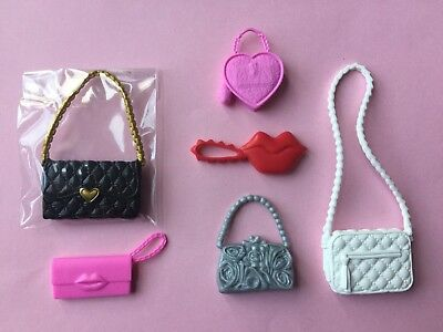 Lot Of 6 Mattel Barbie Doll Plastic Purses/Clutches~Valentines Day~New
